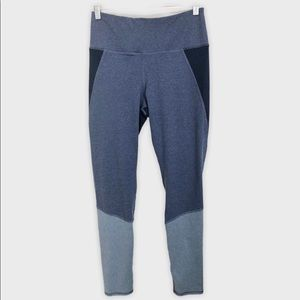 Splendid Blue Colorblock High Rise Leggings